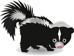cartoon skunk